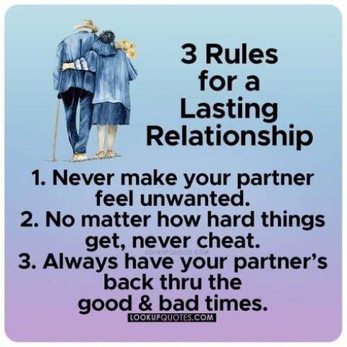 3 Rules for a lasting relationship..