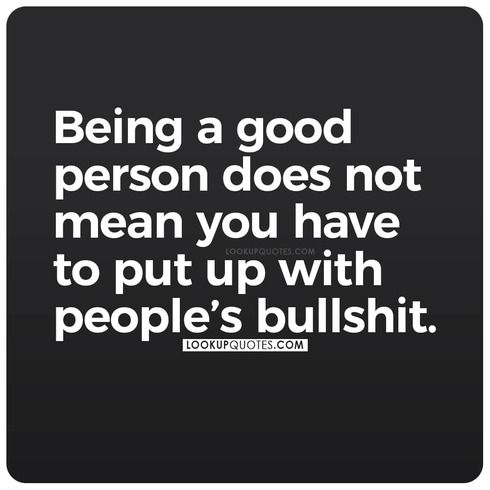 being a good person quote