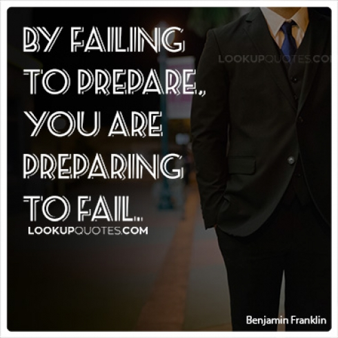 By failing to prepare, you are preparing to fail quotes