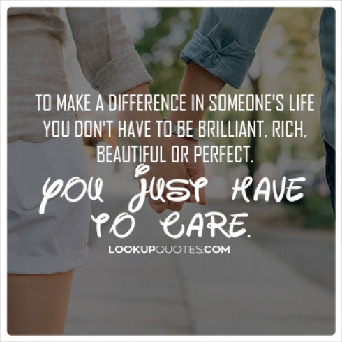 caring about someone quotes