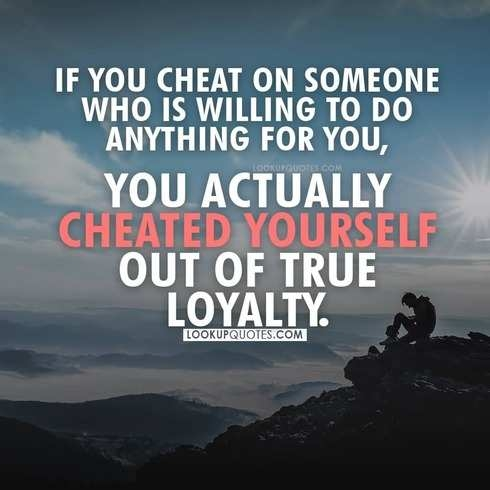 cheated yourself quotes