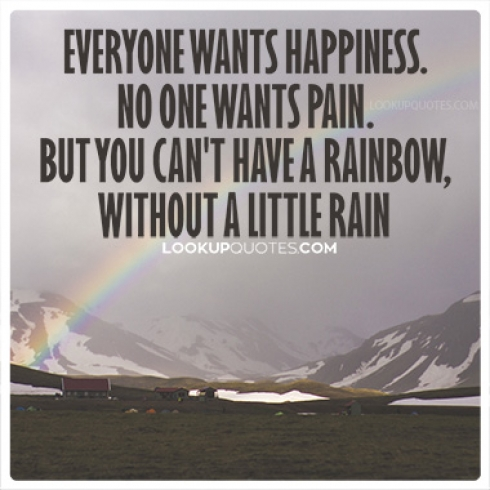 Everyone wants happiness. No one wants pain quotes