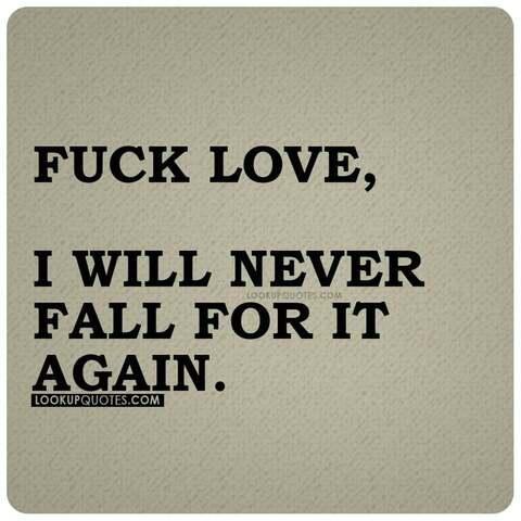 fuck love quotes