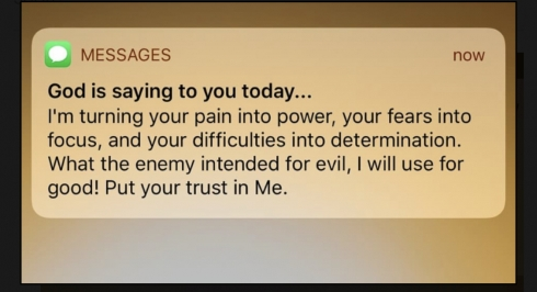 God is saying to you today. I'm turning your pain into power