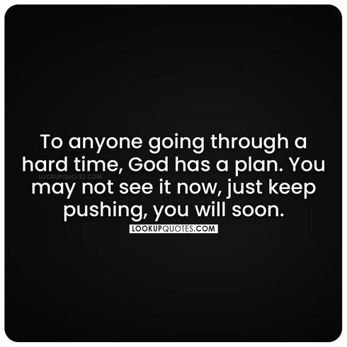 god have a plan quote