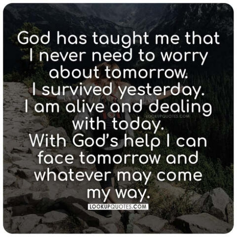 god worrying quotes