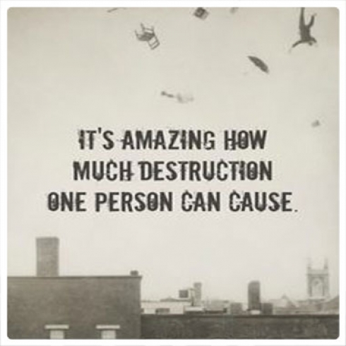 It's Amazing How Much Destruction One Person Can Cause