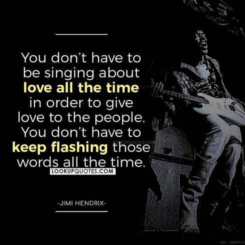 jimi hendrix quotes power of love