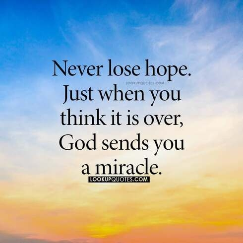never lose hope quotes