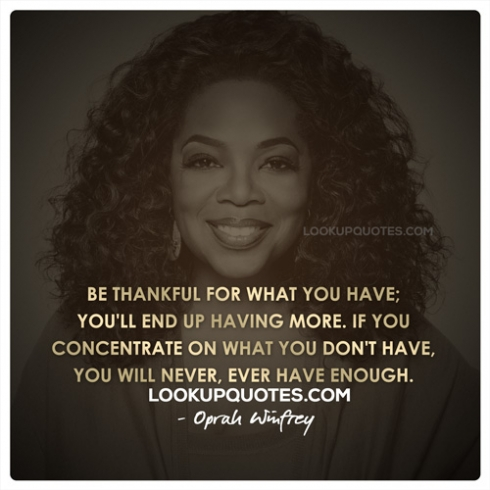 oprah winfrey quote about being thankful