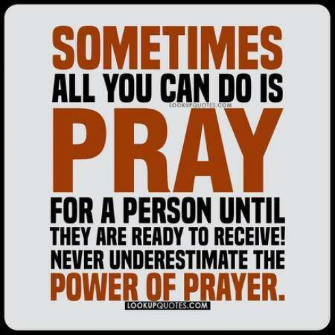 Sometimes all you can do is pray for a person until they are ready to receive! Never underestimate the power of prayer.