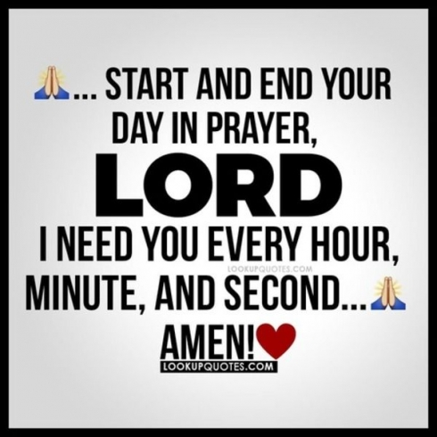Start and end your day in prayer