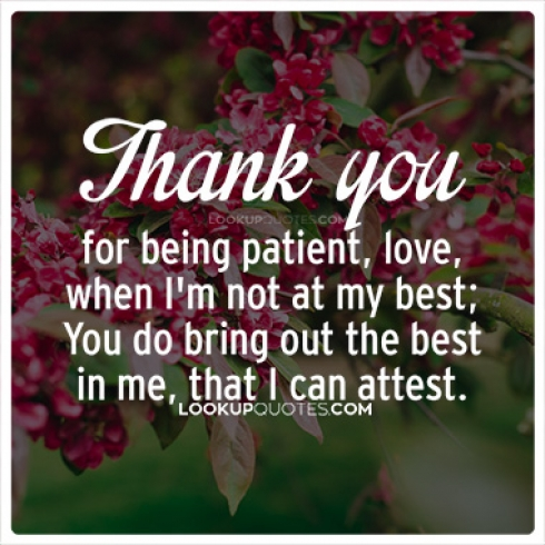 Thank you for being patient quotes