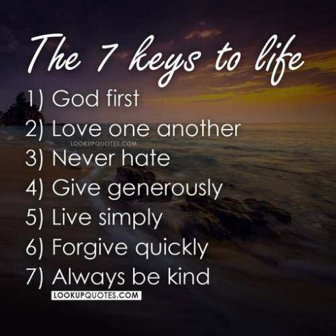 The 7 keys to life