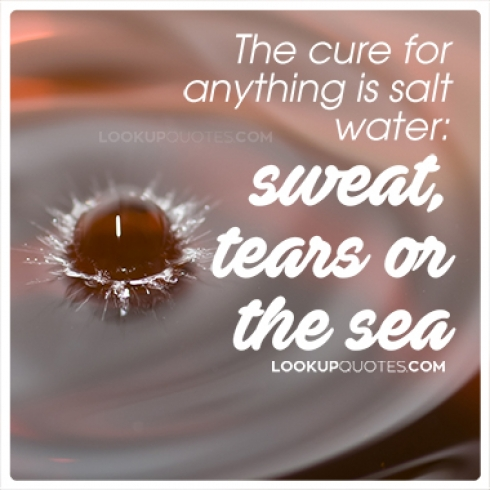 The cure for anything is salt water: sweat, tears or the sea quotes